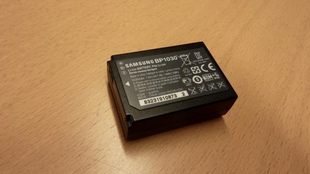 Et litium-ionbatteri fra et kamera. Foto: UngEnergi