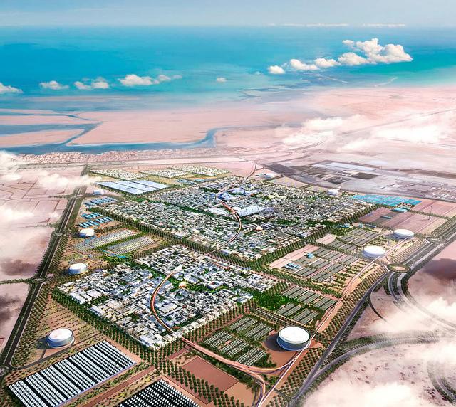 Et bilde av hvordan Masdar City vil se ut ovenfra. Bilde: Flickr.com
