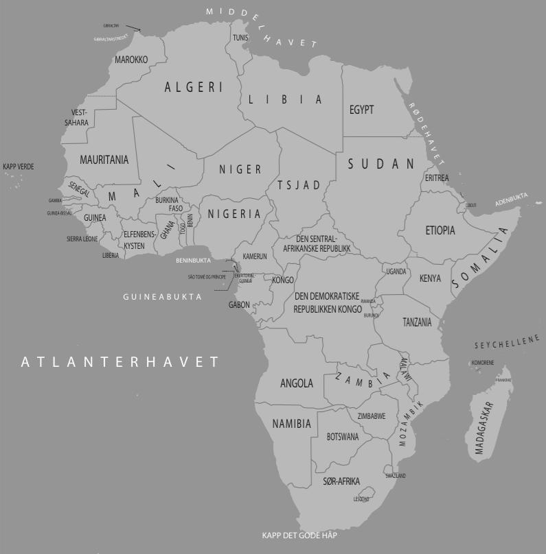 Merk: Den demokratiske republikken Kongo må ikke forveksles med Republikken Kongo, som er et annet land. CC: Jeanette Larsen, punktogprikke/Folk og Forsvar
