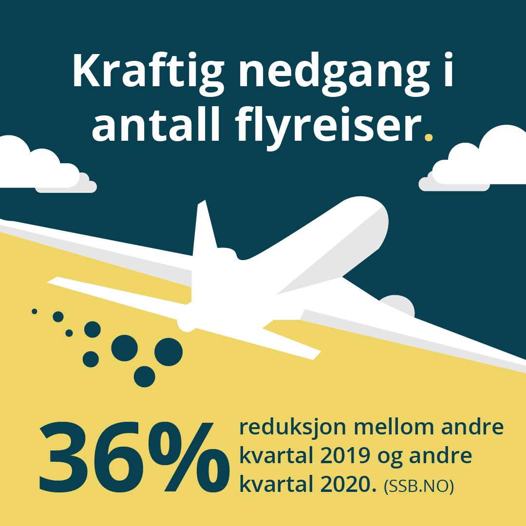 Flyreiser i Norge har gått ned