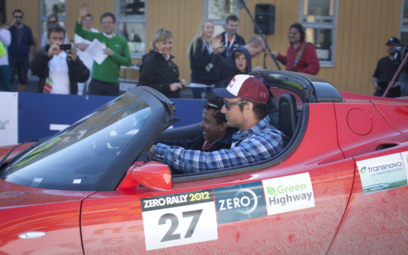 Aksel og Timbuktu fra Zero Rally 2012. Foto: Green Highway